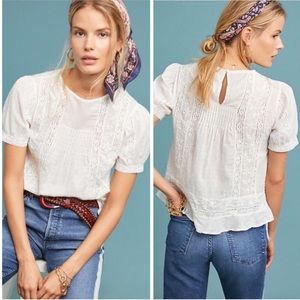 Montecito Lace Blouse NWOT Size 10 Anthropologie